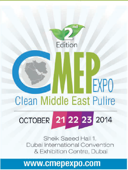 Clean Middle East Pulire, Dubai 21-23 October 2014