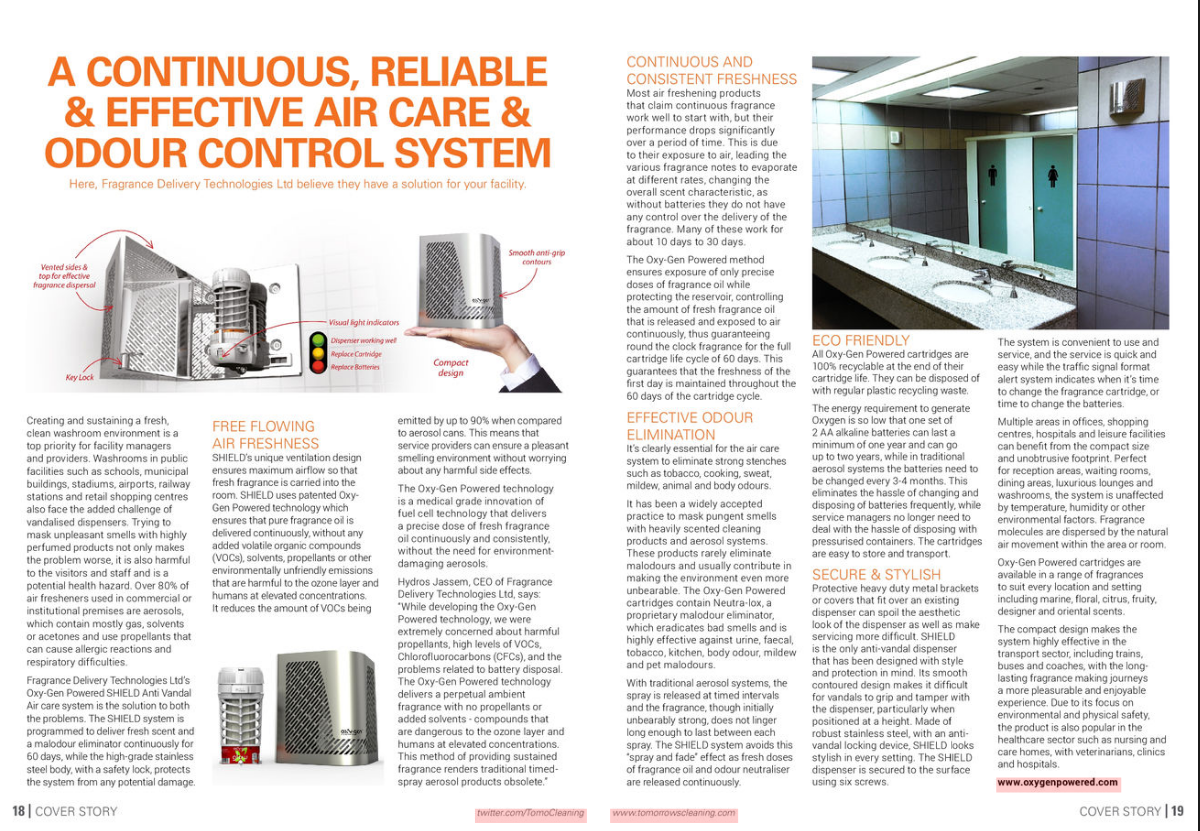 A Continuous, Reliable & Effective Air Care & Odour Control System